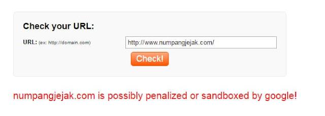 Efek Buruk terkena Google Sandbox bagi sebuah Blog