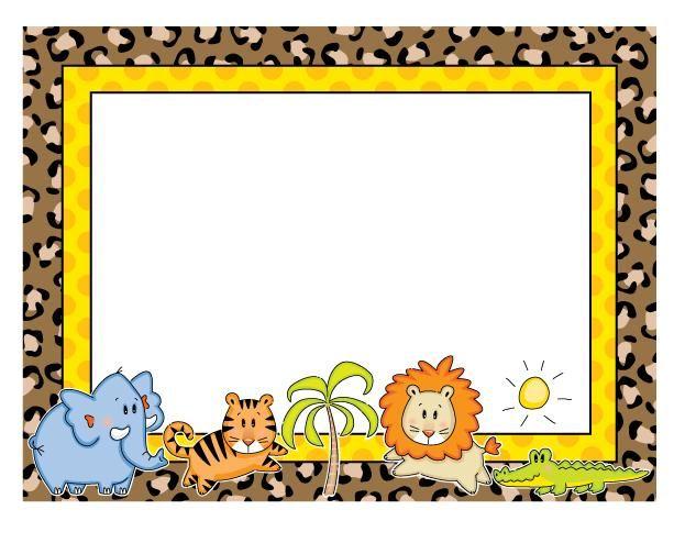 Dibujos Animados De Niños O Animales Como Margenes De Una