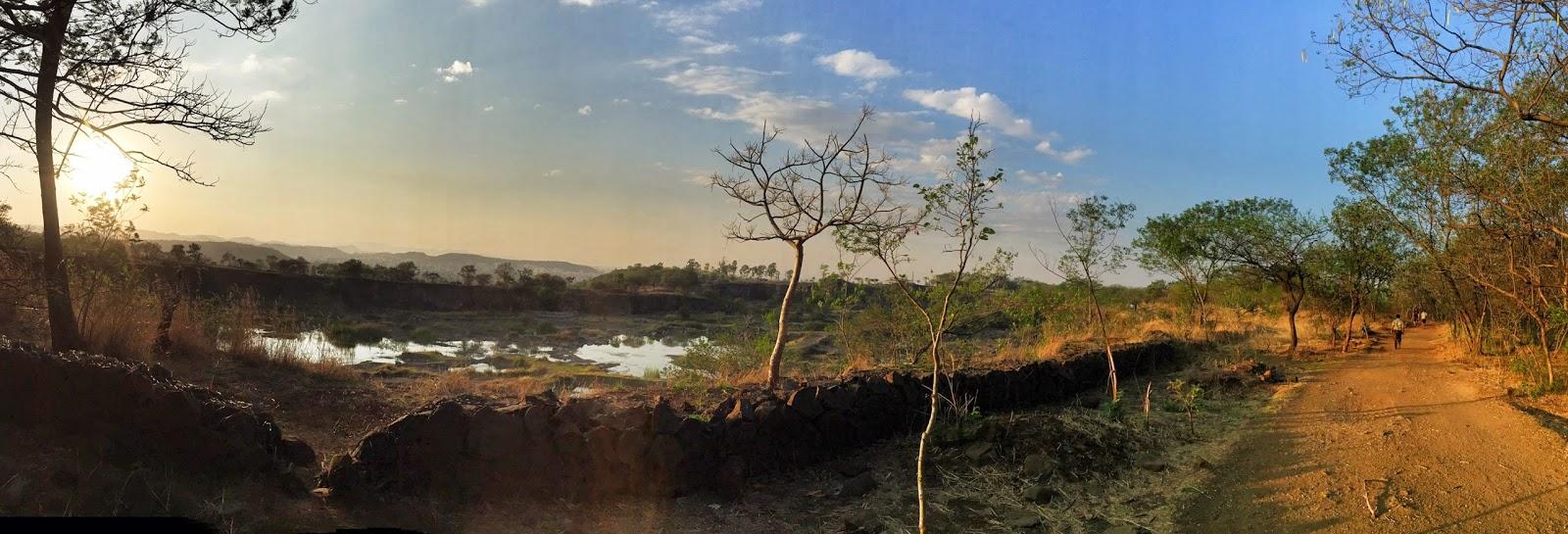 Vetal Hill Pune panorama picture image crater sunset beautiful walking path lane