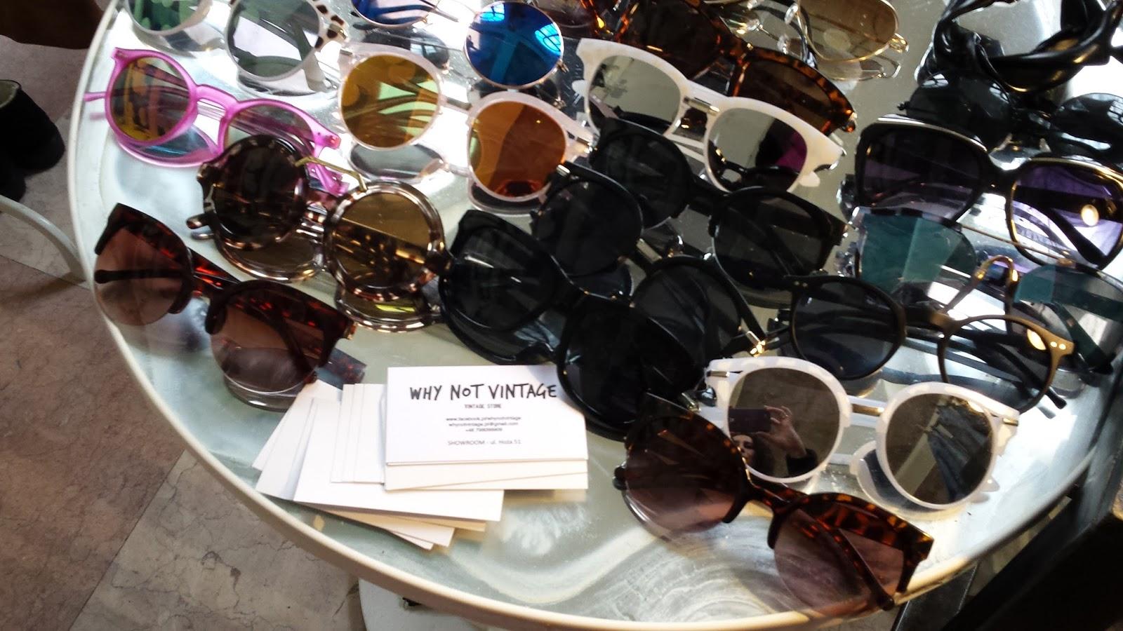 Why Not Vintage, Warsaw Vintage Market, Niebo, stare okulary retro vintage, oprawki vintage, modne okulary 2017