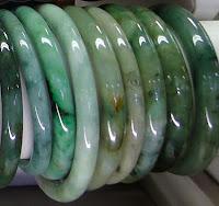 green jade bangles