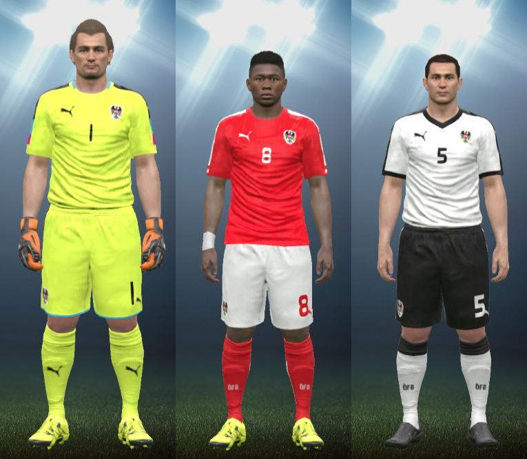 f153e8231fa1f Wepes Sport  Uniforme Seleção Austríaca 2016 - Pes 2016 (PC PS3)