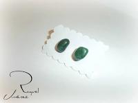 pendientes de jade verde