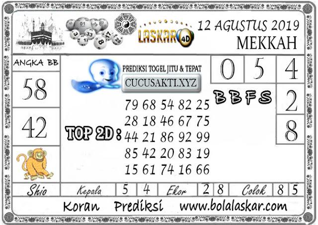 Prediksi Togel MEKKAH LASKAR4D 12 AGUSTUS 2019