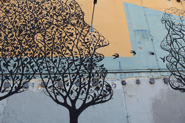 Street Art By Spanish Artist Sam3 On The Streets Of Barcelona in Spain. 2