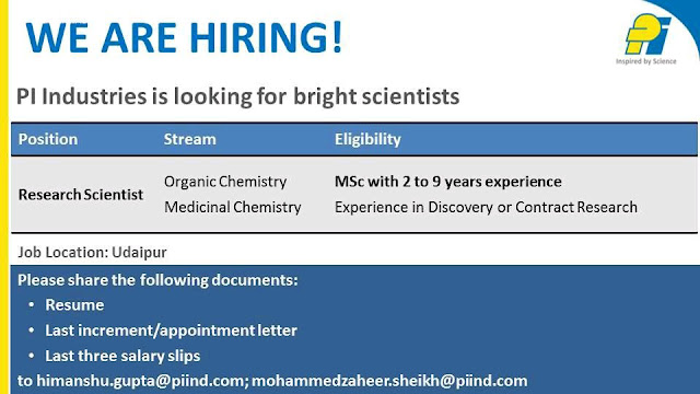 Job vacancy in SMS life sciences pharmaceutical company