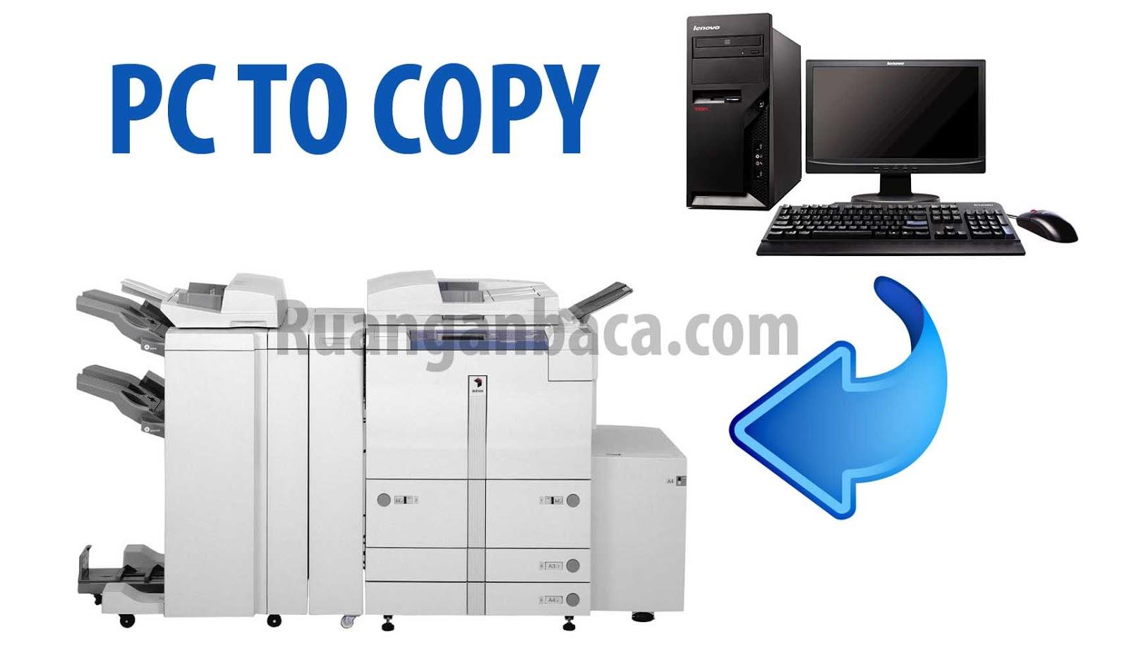 Cara menghubungkan komputer dan mesin fotocopy canon IR agar bisa ...