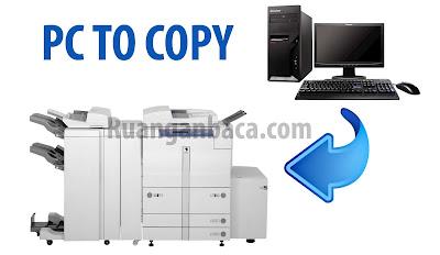 Cara menghubungkan komputer dan mesin fotocopy canon IR agar bisa print