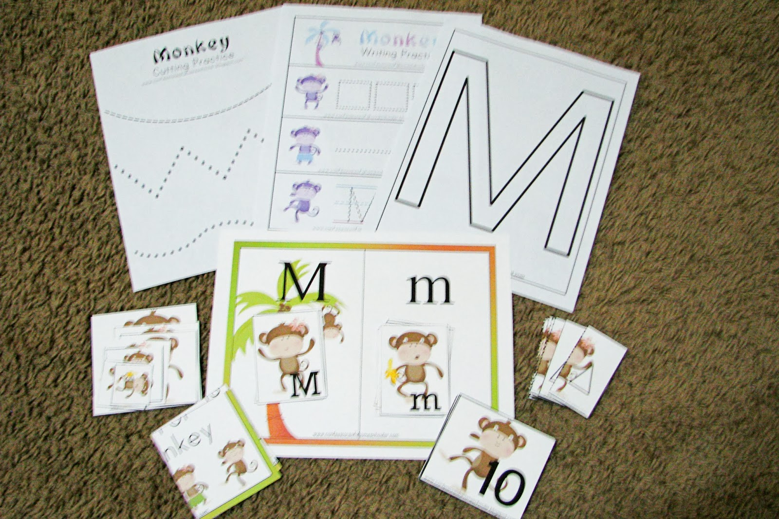 Mommy S Little Helper Letter M Monkey Theme
