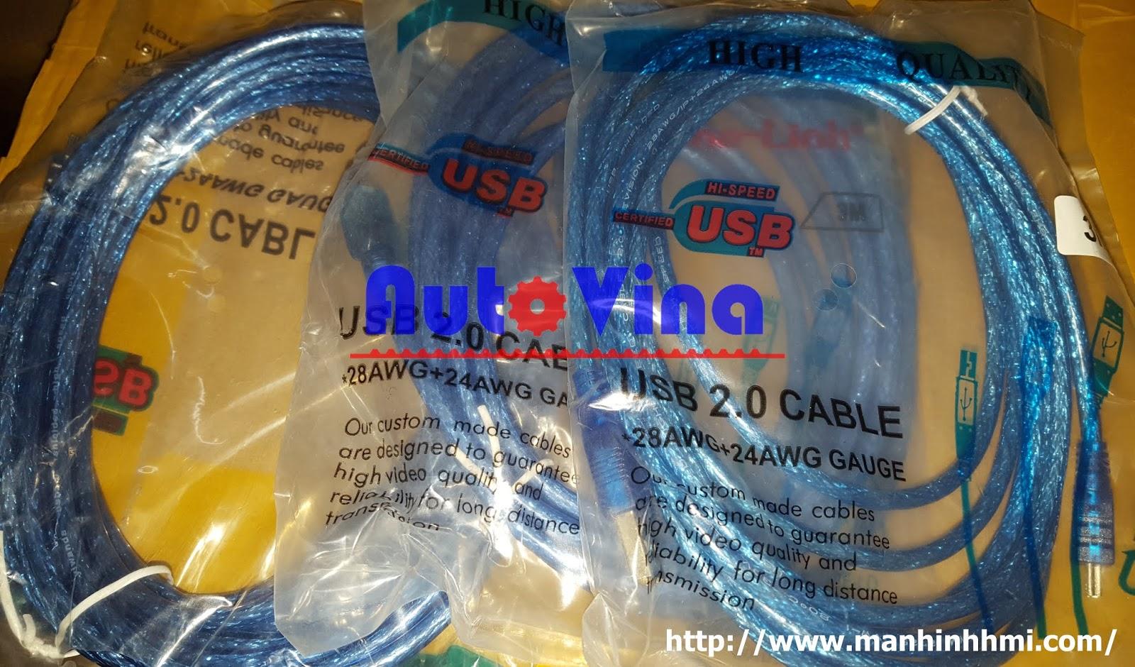 Cable Mini USB, cable nạp chương trình màn hình HMI Samkoon