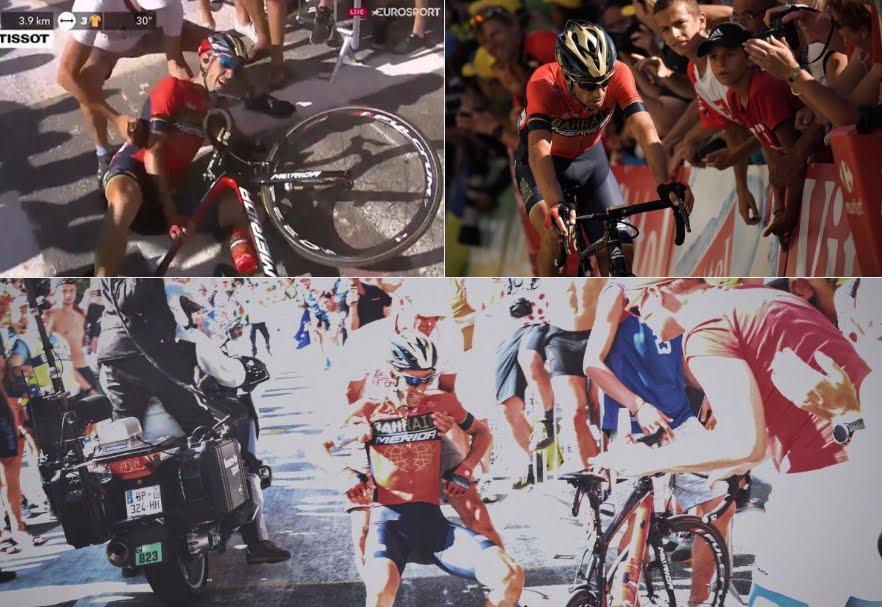 Vincenzo Nibali si ritira dal Tour de France: frattura di una vertebra dopo la caduta sull'Alpe d'Huez nella Tappa Regina.
