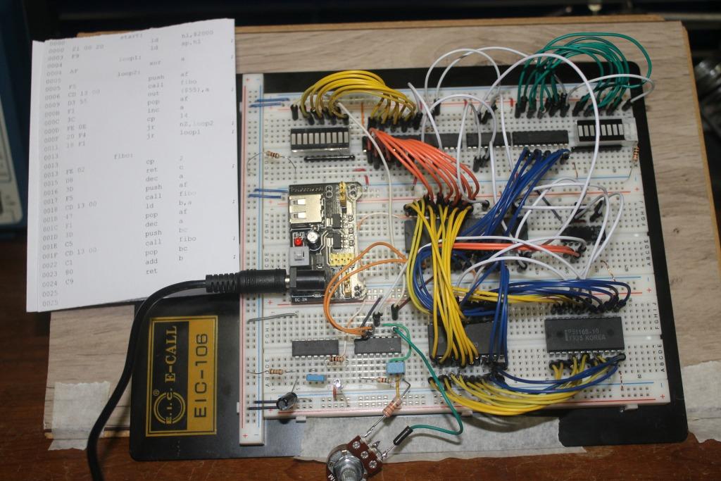 DQSoft: Z80 na Protoboard: Revisão dos LEDs e Ram