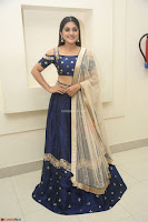 Niveda Thomas in Lovely Blue Cold Shoulder Ghagra Choli Transparent Chunni ~  Exclusive Celebrities Galleries 042.JPG