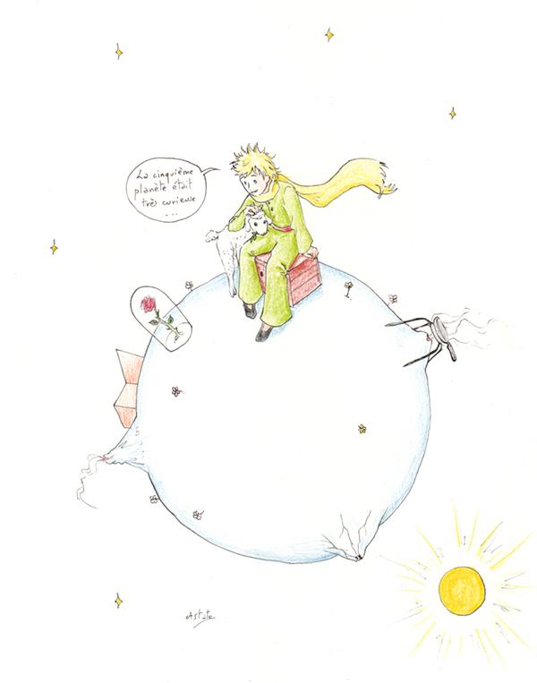 Le petit prince, le mouton et la rose