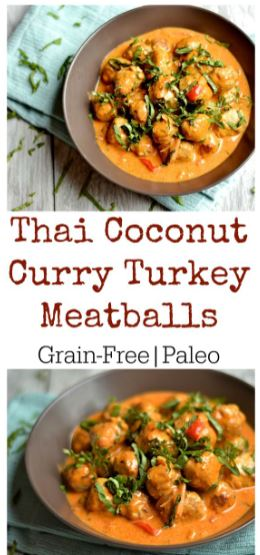Thai Coconut Curry Turkey Meatballs