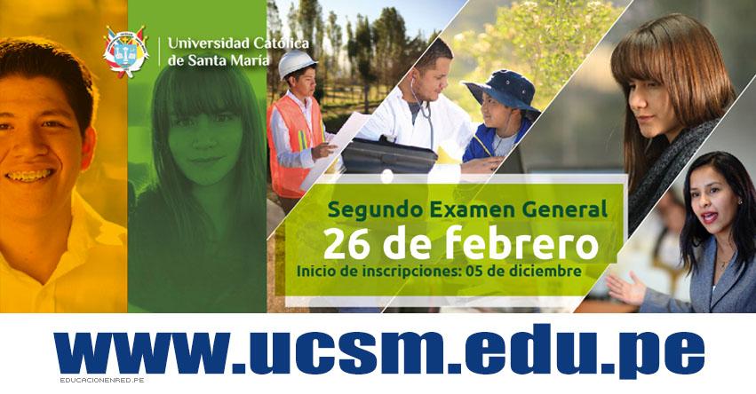 Admisión UCSM 2017-2 (Examen 26 Febrero) Inscripción III EXAMEN GENERAL - Universidad Católica de Santa María (AREQUIPA) www.ucsm.edu.pe
