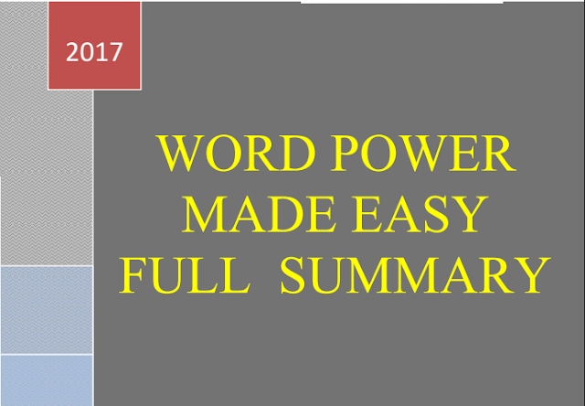 Word Power Made Easy Book Full Summary PDF Download