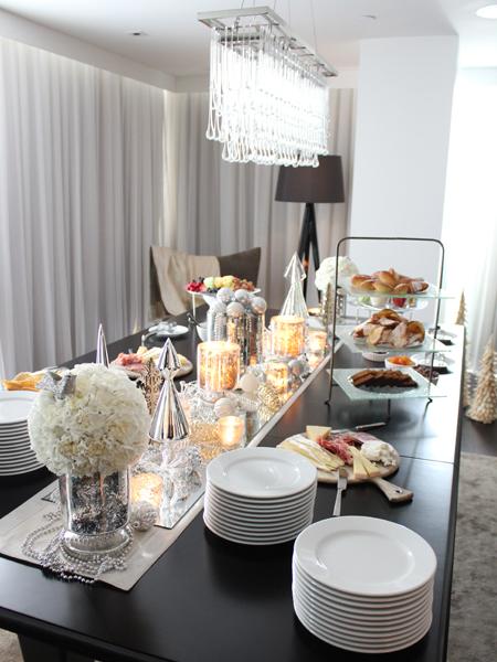 mesa natal estilo buffet