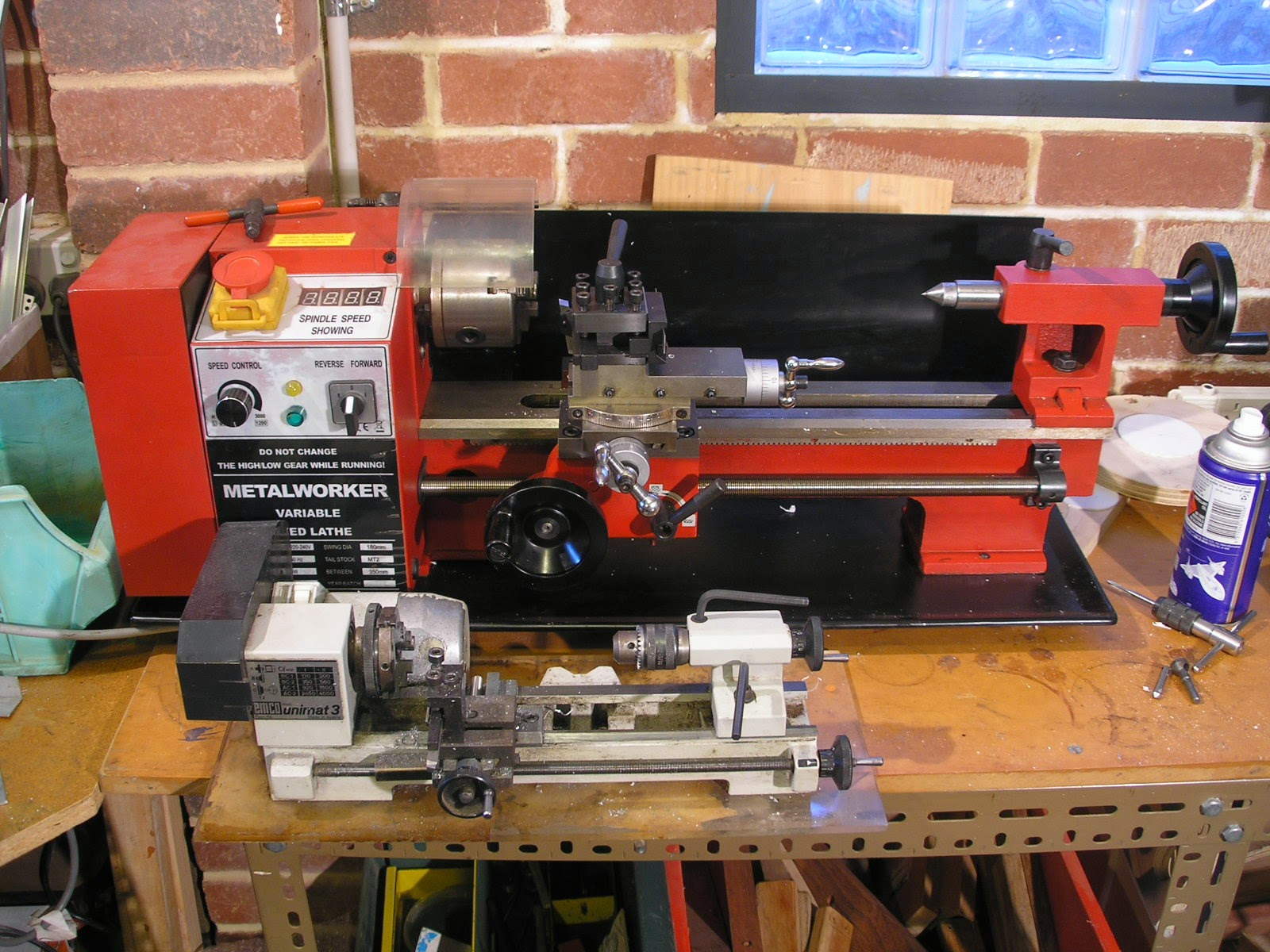 Rc Sci Fi Mini Lathe Reversing A You Can See How Much Bigger It Is Than My Unimat 3 In The Photo Below C3 Classed As I Guess Must Be Micro