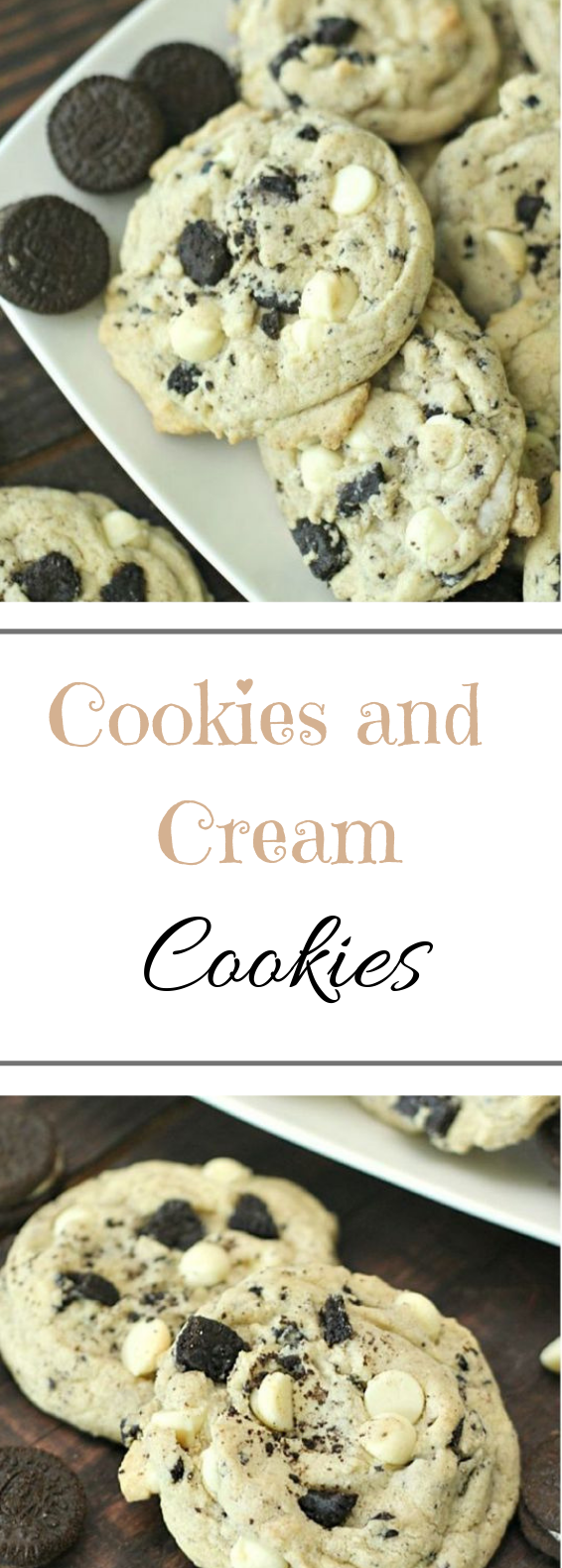 Cookies and Cream Cookies #dessert #cookies