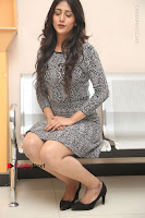 Actress Chandini Chowdary Pos in Short Dress at Howrah Bridge Movie Press Meet  0134.JPG