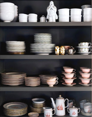 shelf styling for dishes