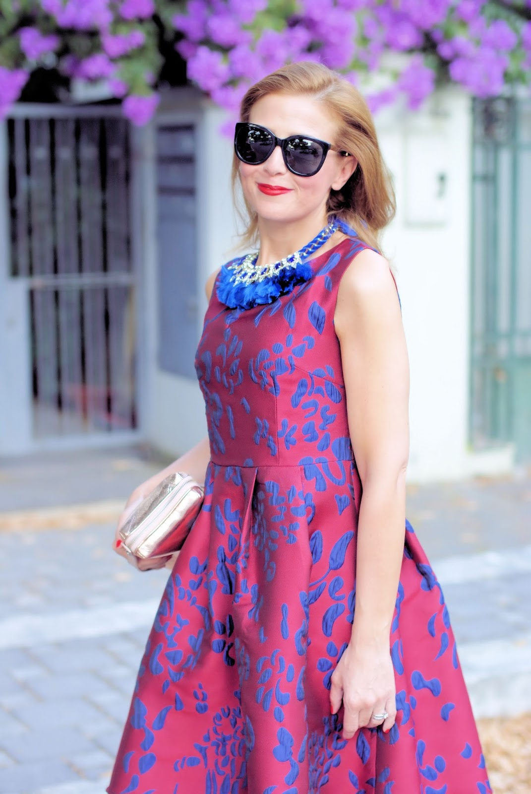Bon ton jacquard dress on Fashion and Cookies fashion blog, fashion blogger style