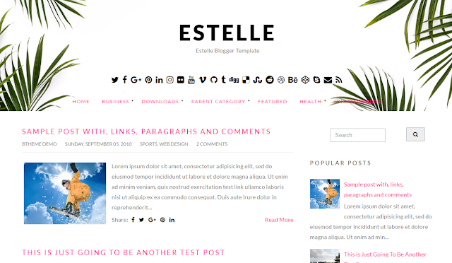 Estelle Blogger Template