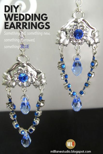 Sapphire Chandelier Drop Earrings
