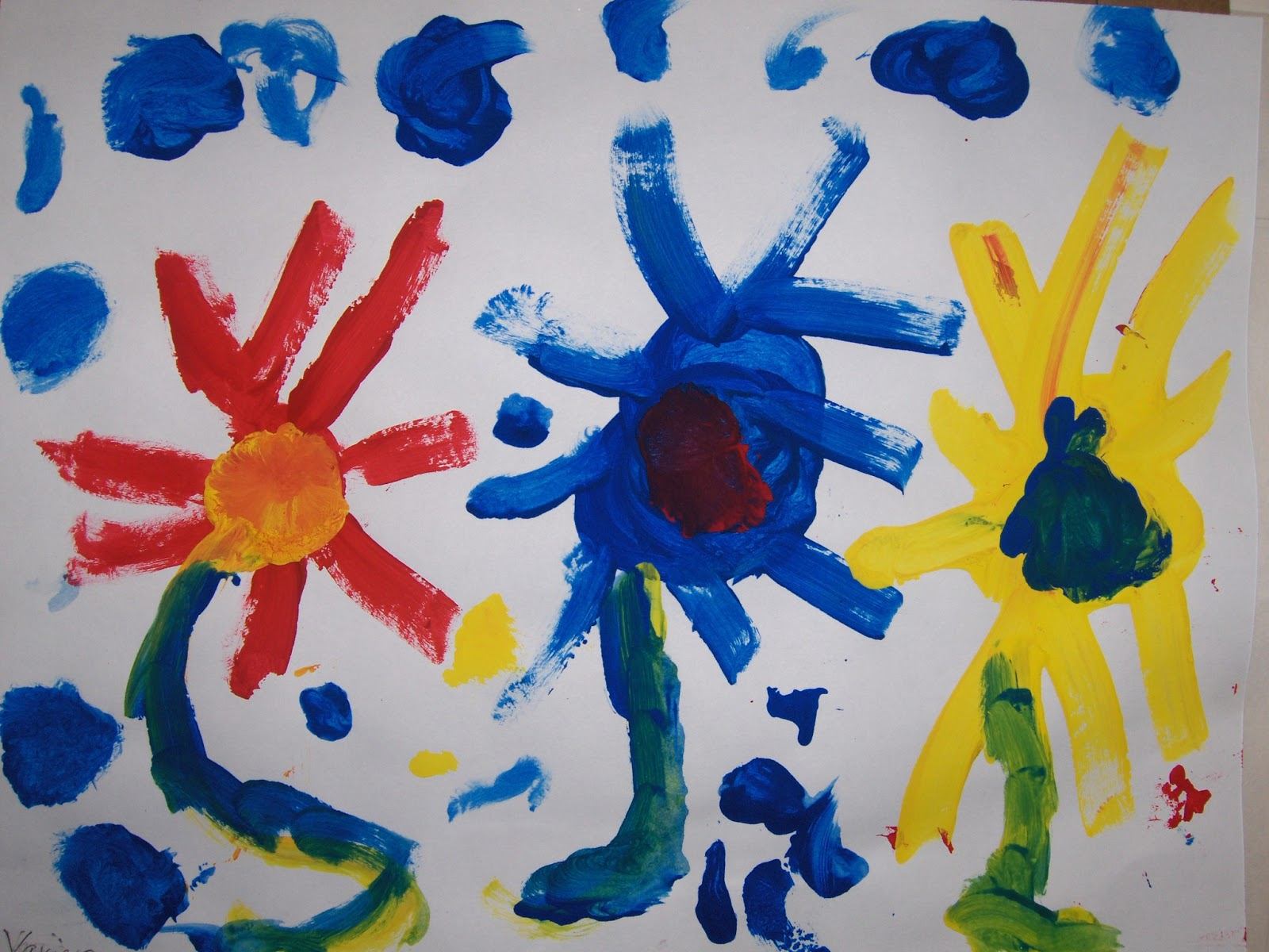 Kinder Garden: The Blue Horse : Kindergarten Art Lessons