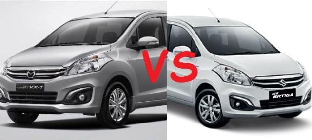 Perbedaan New Ertiga dengan New Mazda VX-1