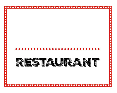 free restaurant pretend play printables