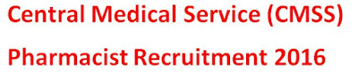 CMSS Pharmacist Recruitment 2016