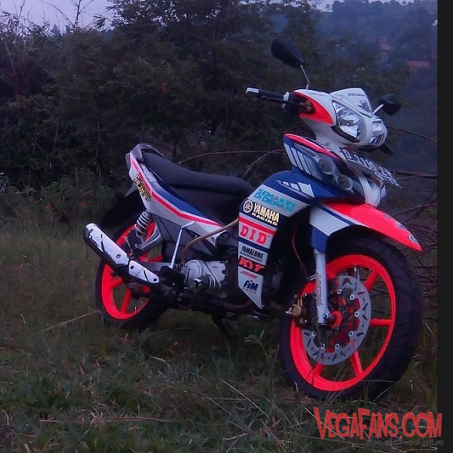 Jupiter Z New Putih Modif Road Race Velg Racing