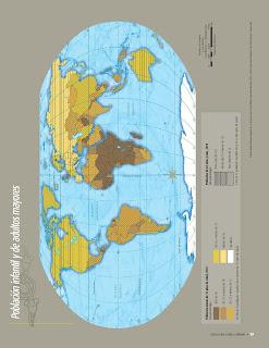 Apoyo Primaria Atlas de Geografía del Mundo 5to. Grado Capítulo 3 Lección 1 Población Infantil y de Adultos Mayores