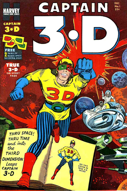 Captain 3-D v1 #1, 1953 golden age comic book cover by jack kirby