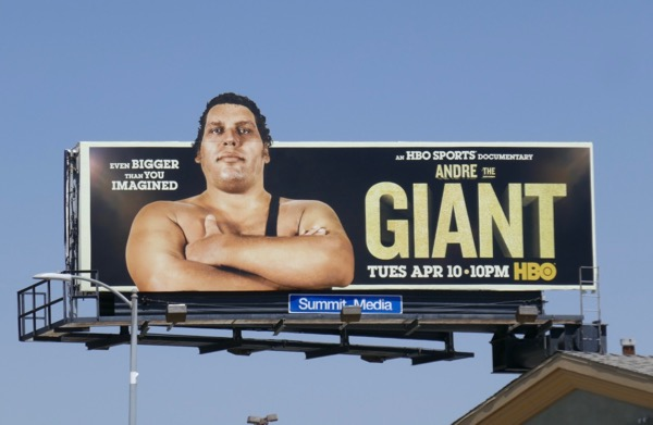 Andre The Giant extension cut-out billboard