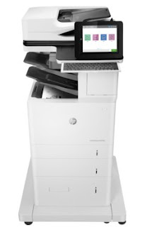 HP LaserJet MFP alongside special surgical operation together with liberate energy efficiency that produces professi HP LaserJet Enterprise Flow MFP M633z Driver Download