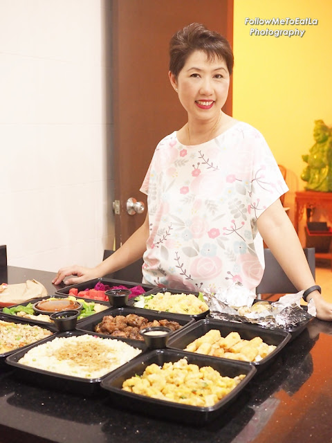 All Smiles With Delicious Buffet Food Freshly Delivered To My Home