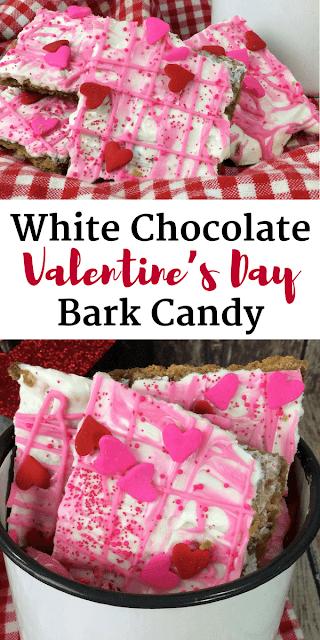 White Chocolate Valentine's Day Bark Candy