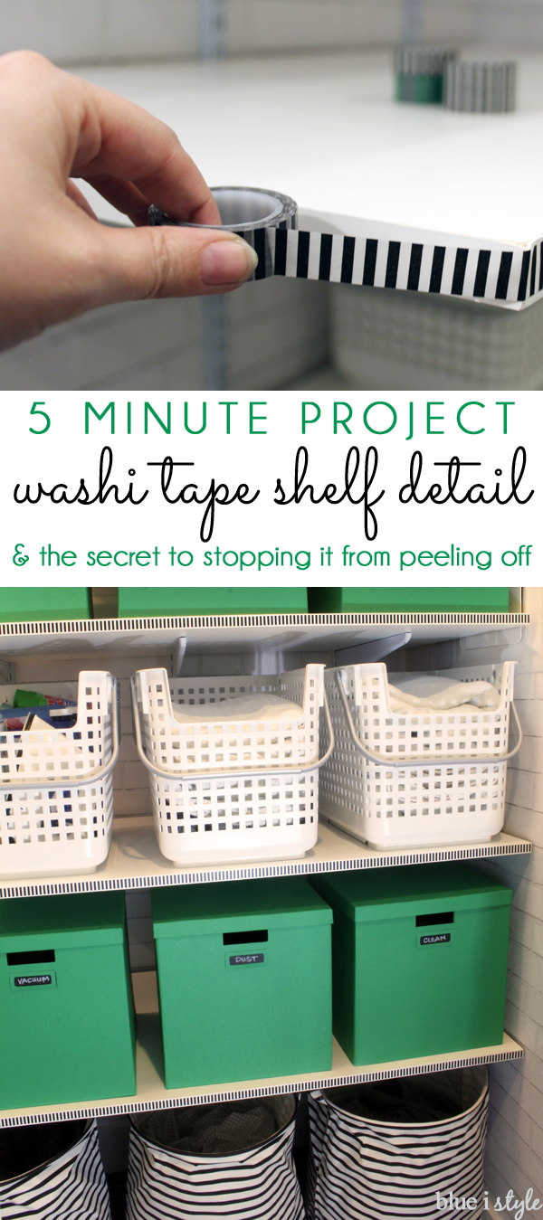 5 Minute Washi Tape Shelf Detail