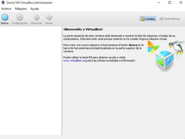 VirtualBox Versión 5.0.18 Español