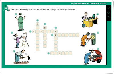 Lugares de trabajo de las profesiones 2º de Primaria Editorial La Galera