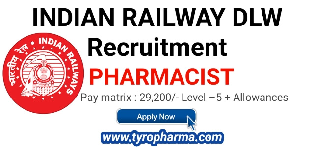 Pharmacist Job at DLW Indian Railways