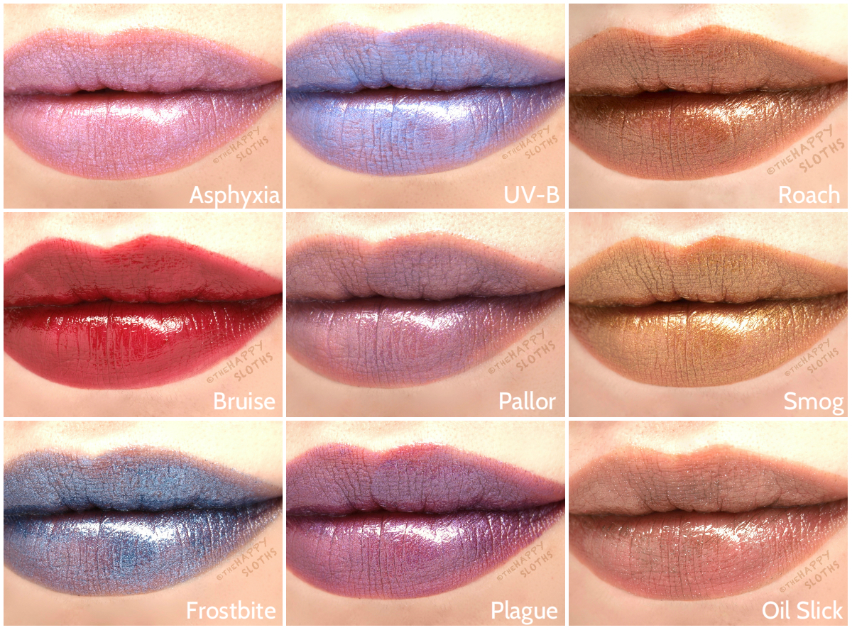 Urban Decay Vice Lipstick Vintage Capsule Collection Review and Swatches