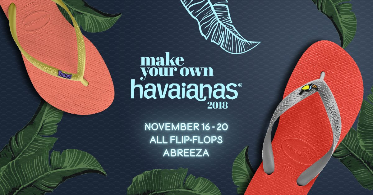 Make Your Own Havaianas 2018 - Wilderness of Joy