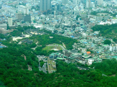 Myeongdong view from Namsan Seoul Tower Observatory