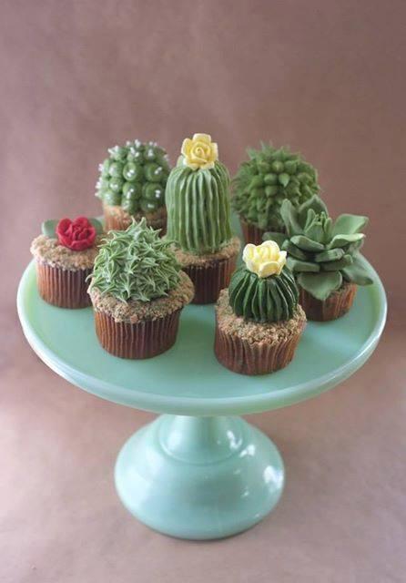 Cakes, DIY House Plant Cupcakes!
