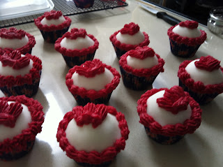 'Domed' iced cupcakes