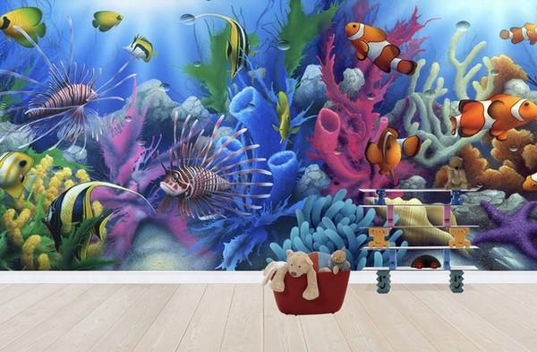 akvaario Tapetti koralliriutat vedenalainen kala akvaario tapetti valokuva veisto